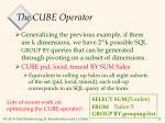 the cube operator