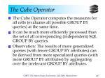 the cube operator17