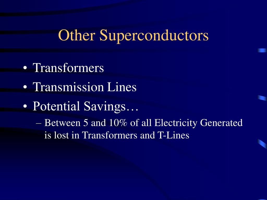 Other Superconductors