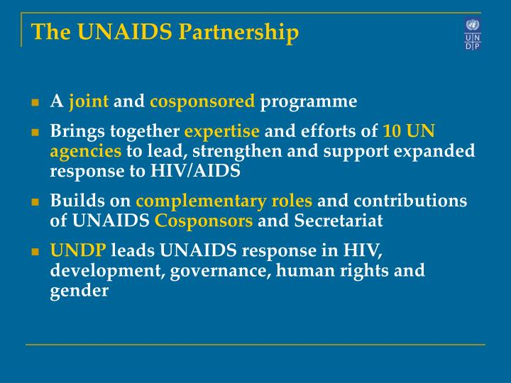 The UNAIDS Partnership