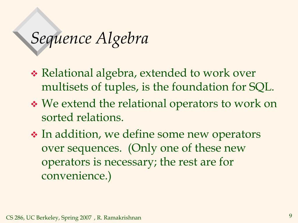 Sequence Algebra