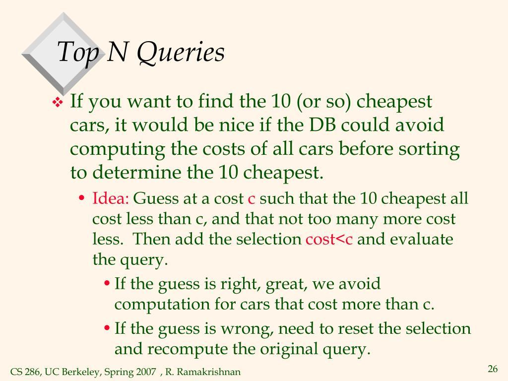 Top N Queries