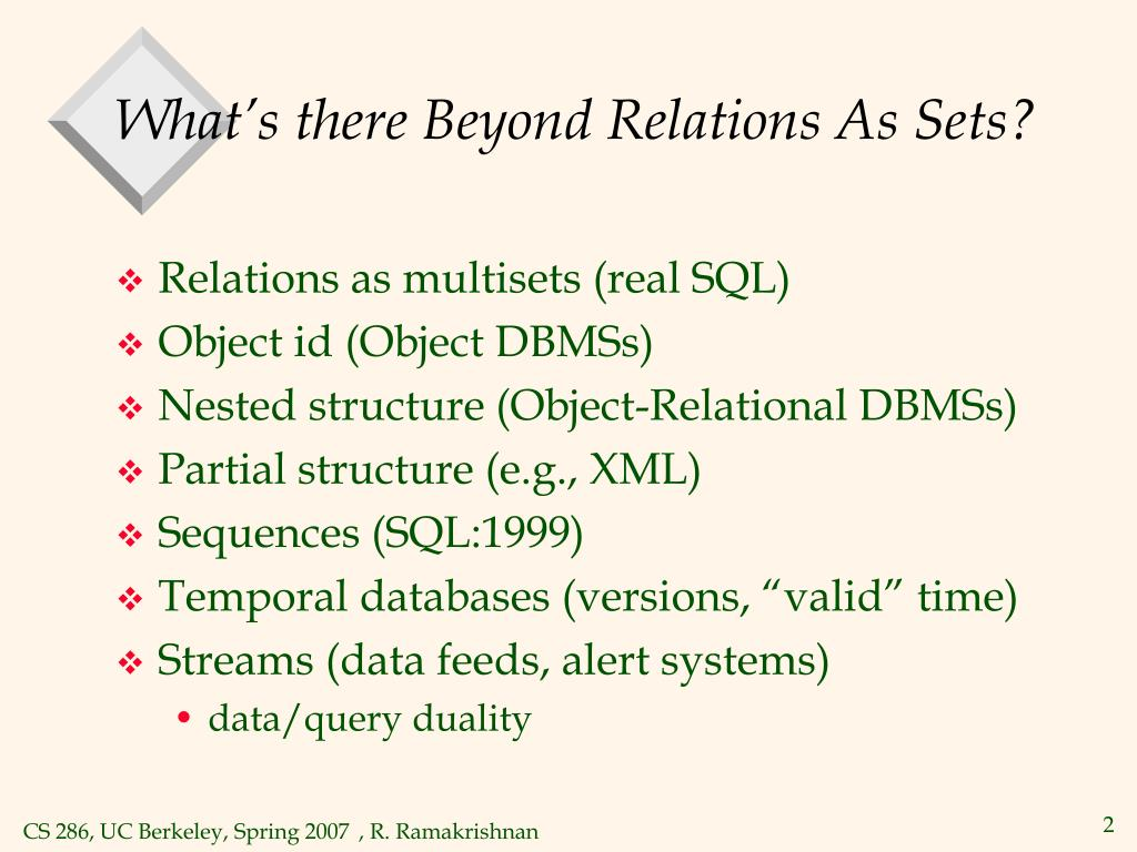 What's there Beyond Relations As Sets?