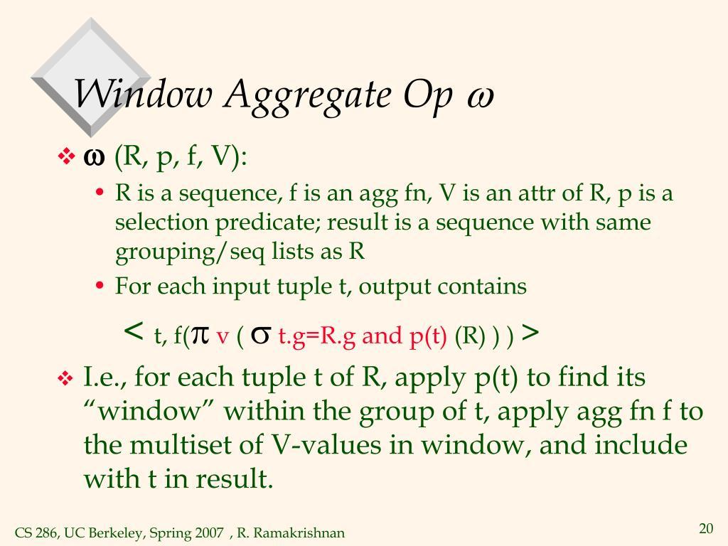 Window Aggregate Op