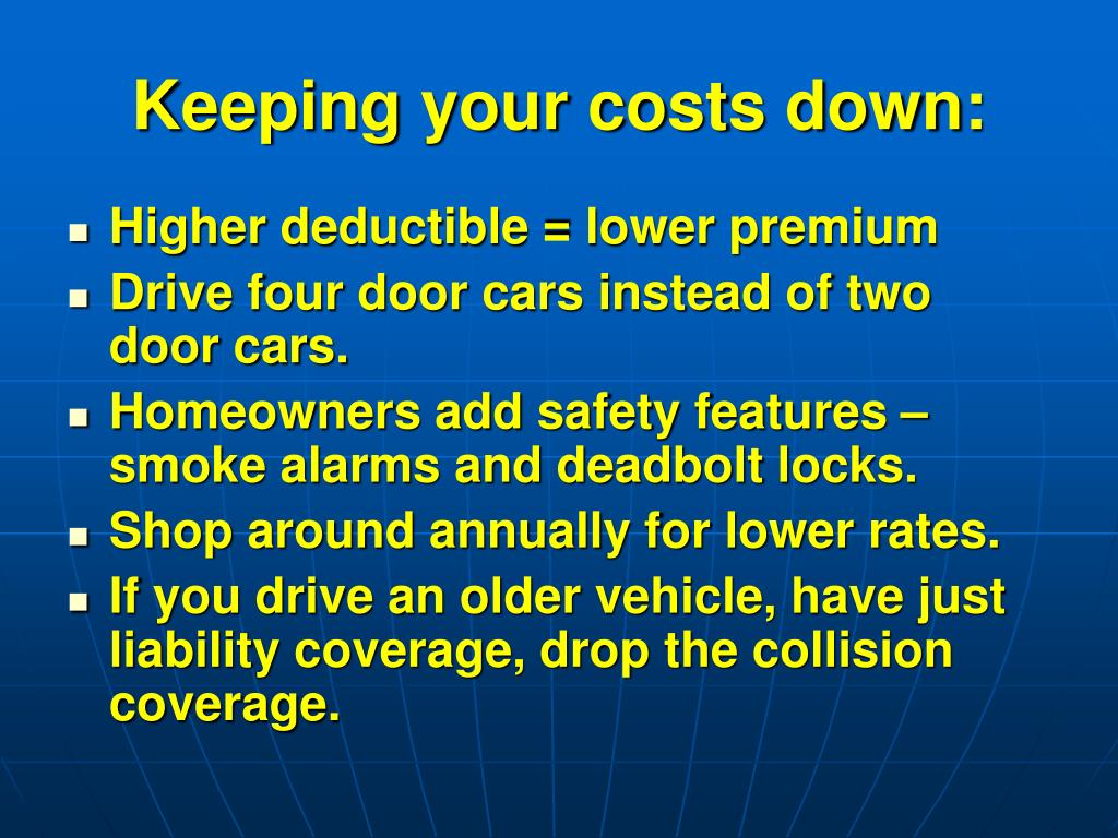 Keeping your costs down: