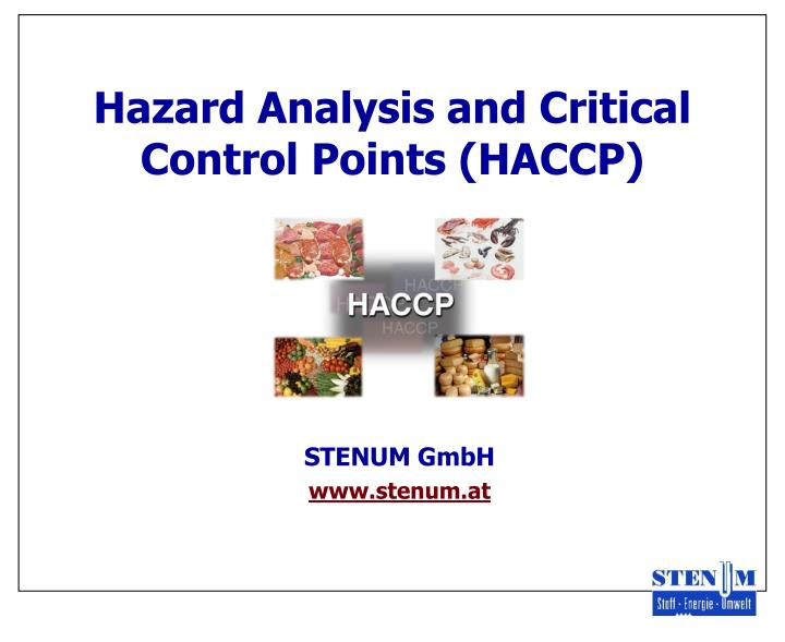 hazard analysis and critical control points haccp n.