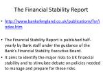 the financial stability report