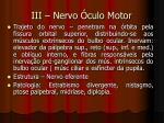 iii nervo culo motor
