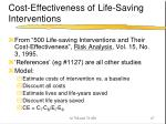 cost effectiveness of life saving interventions