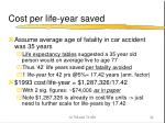 cost per life year saved