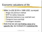 economic valuations of life