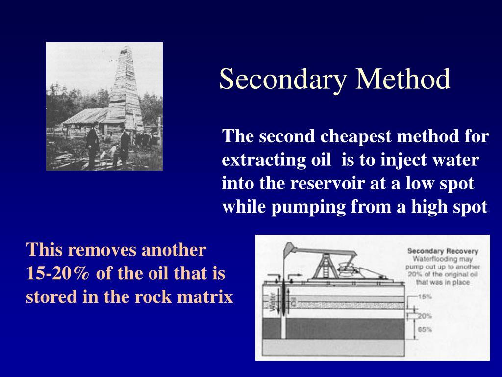 Secondary Method