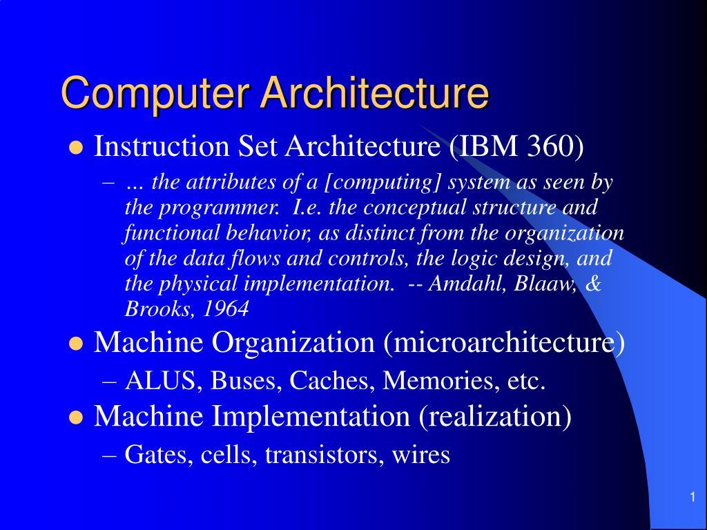 computer architecture l.