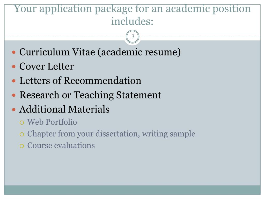 Ppt Preparing Your Curriculum Vitae Cv And Cover