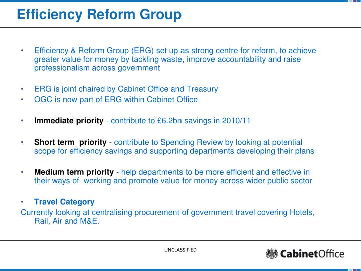 Efficiency reform group