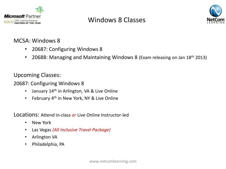 Windows 8 Classes