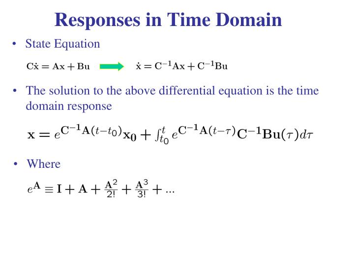 Responses in Time Domain