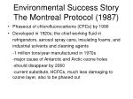 environmental success story the montreal protocol 1987