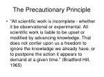 the precautionary principle135