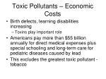 toxic pollutants economic costs