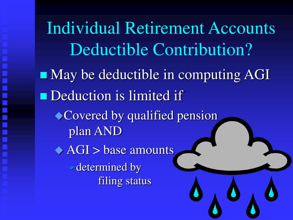 Individual Retirement Accounts Deductible Contribution?