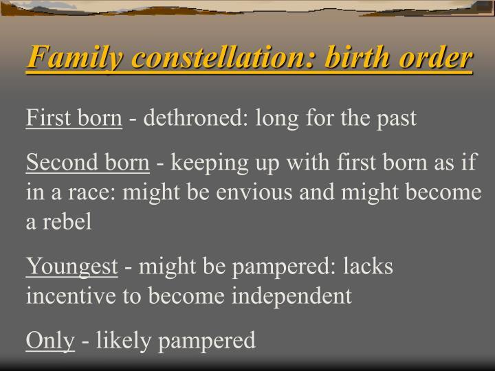 Family constellation: birth order