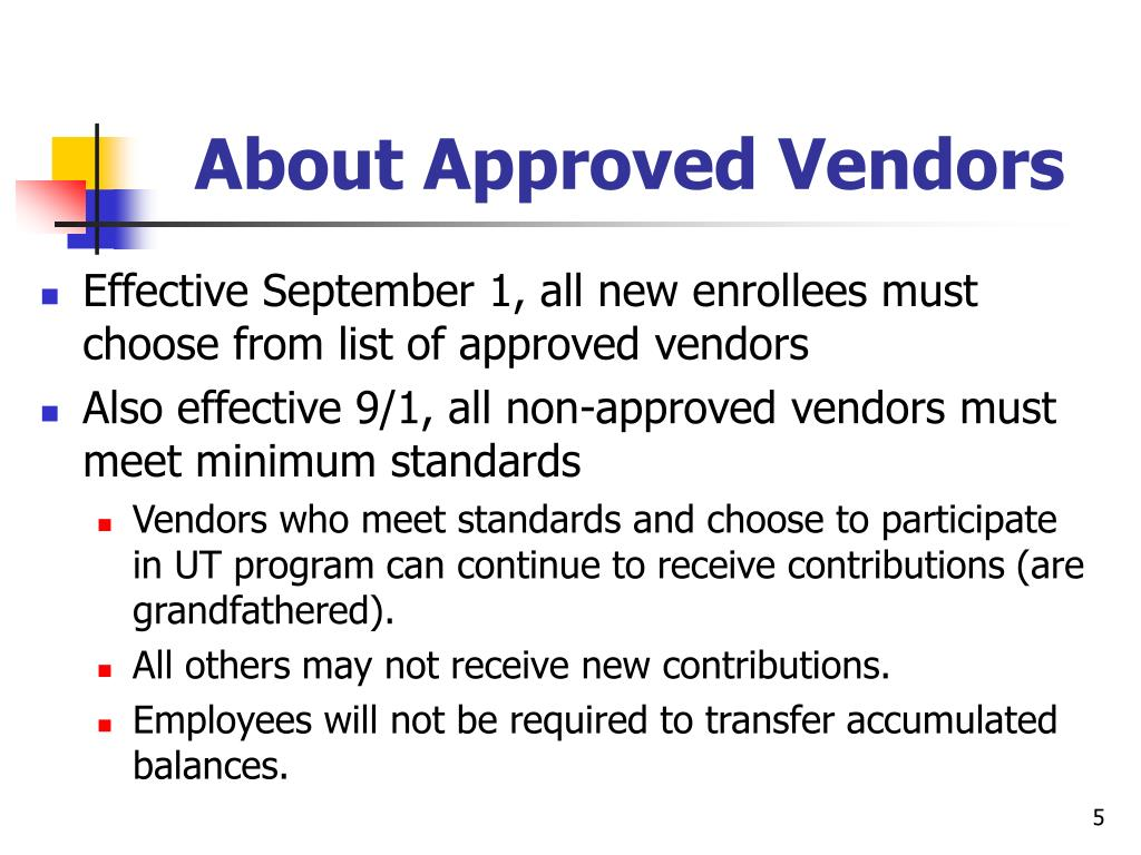 About Approved Vendors