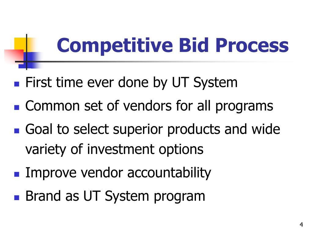 Competitive Bid Process
