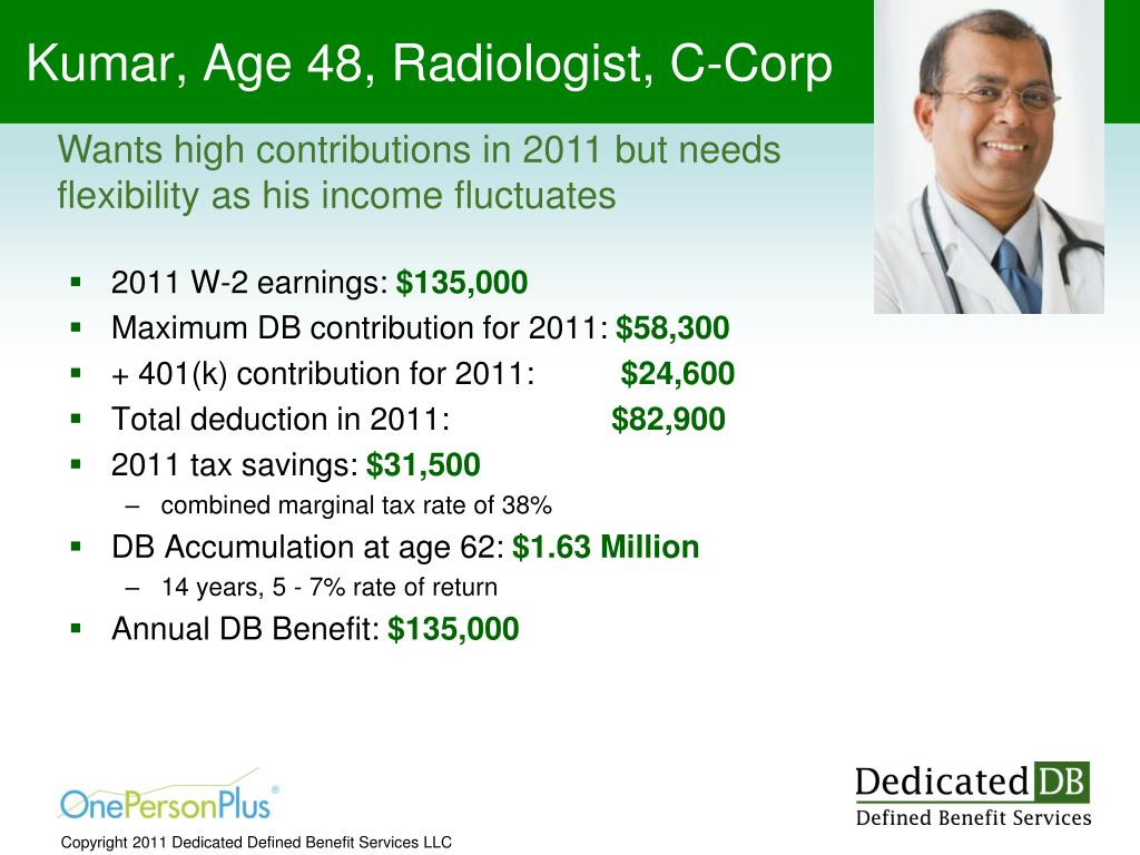 Kumar, Age 48, Radiologist, C-Corp