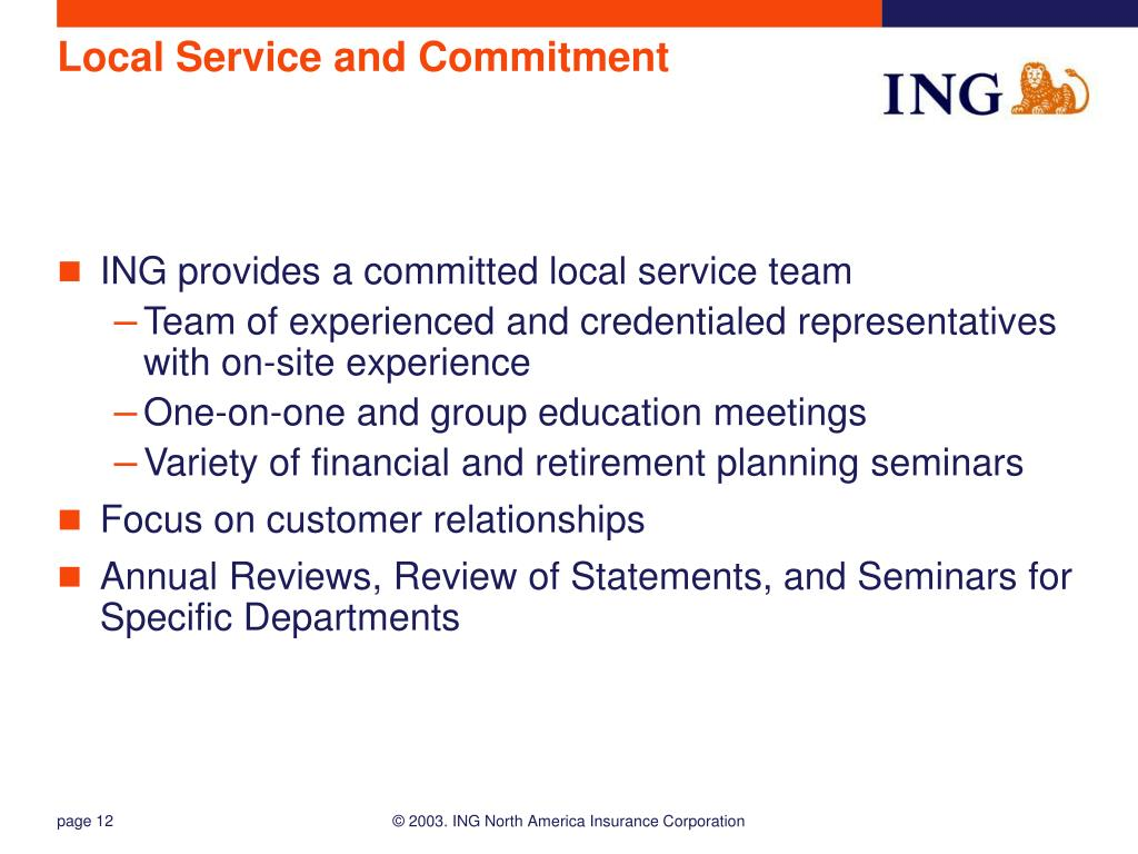 Local Service and Commitment