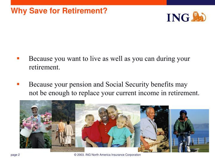 Why save for retirement