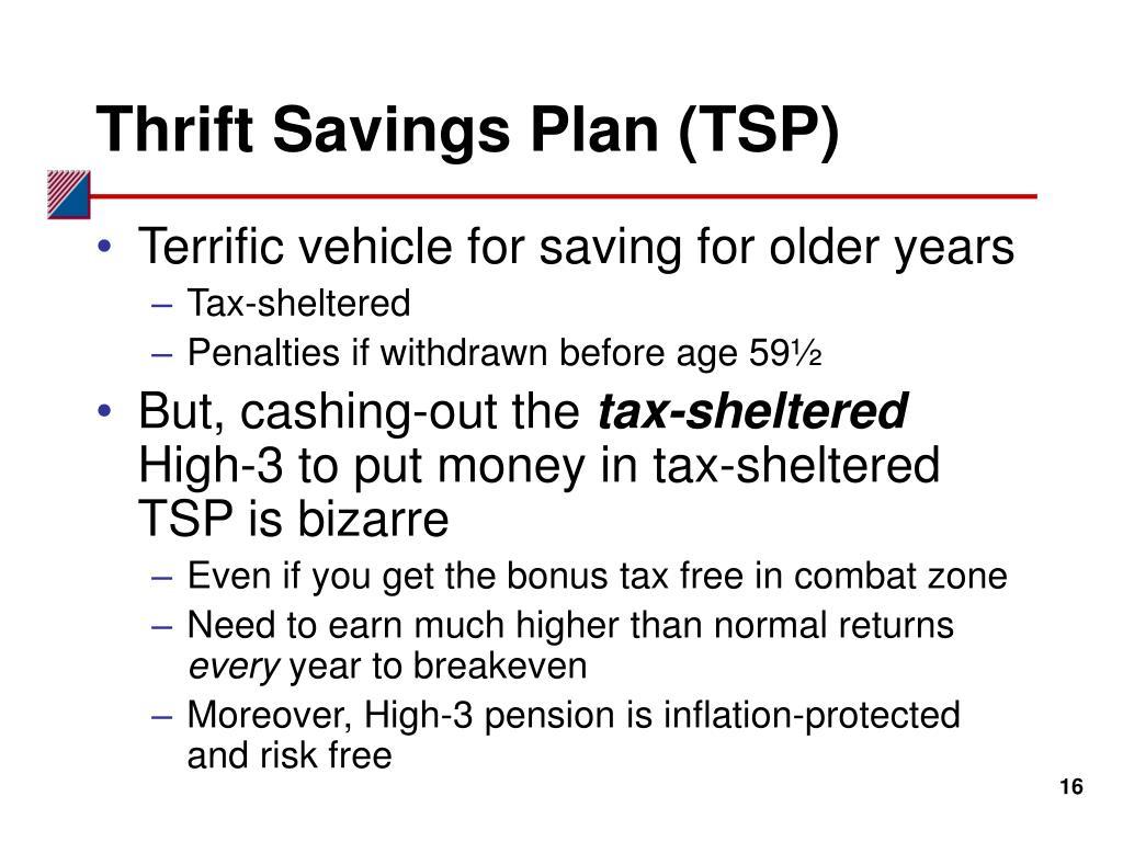 Thrift Savings Plan (TSP)