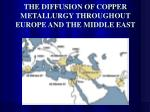 the diffusion of copper metallurgy throughout europe and the middle east