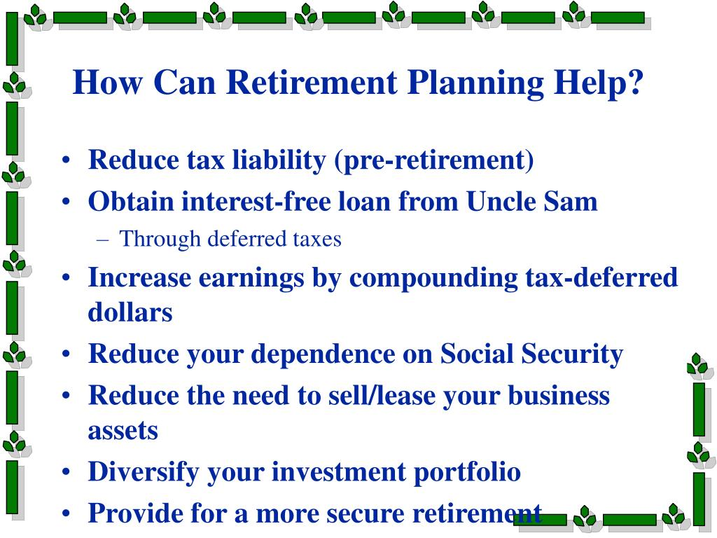 How Can Retirement Planning Help?