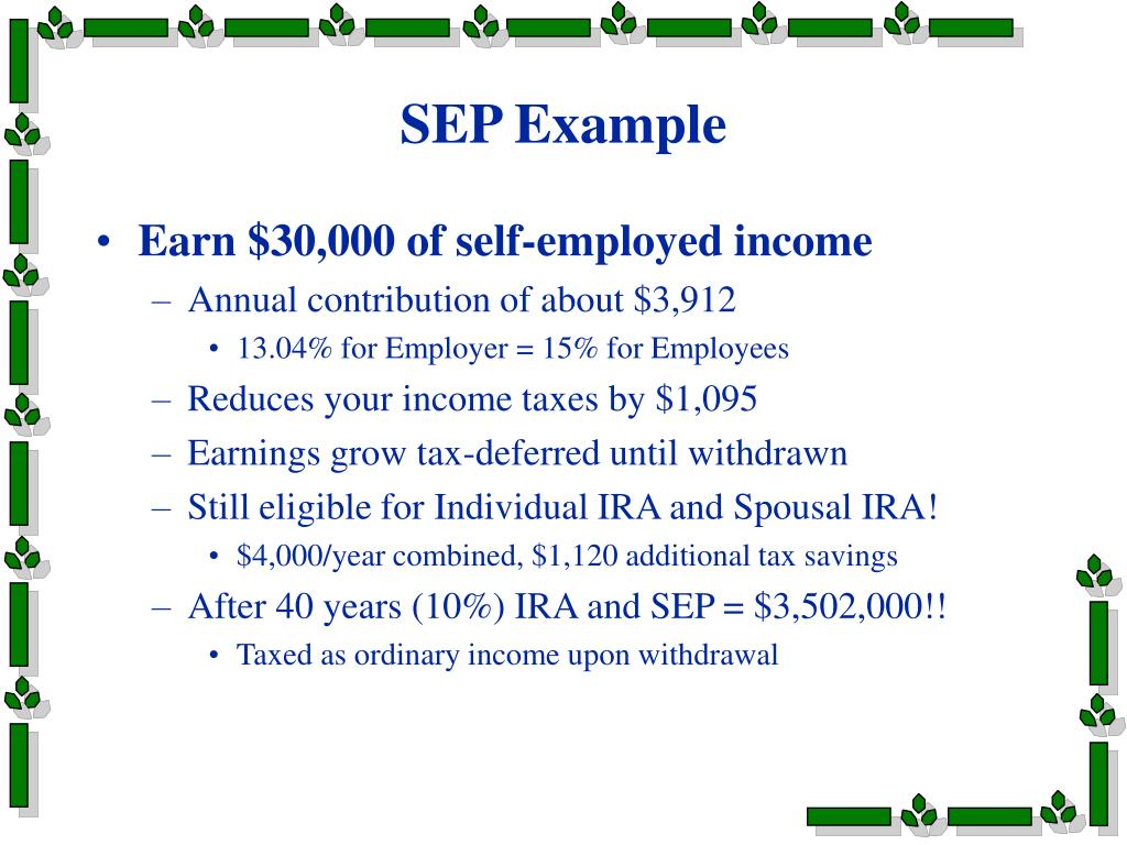 SEP Example