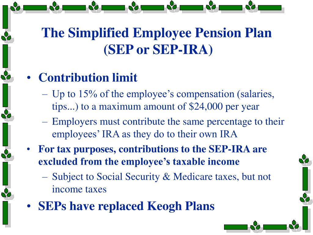 The Simplified Employee Pension Plan