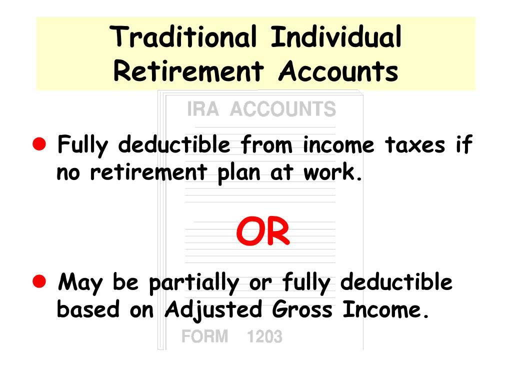 Traditional Individual Retirement Accounts