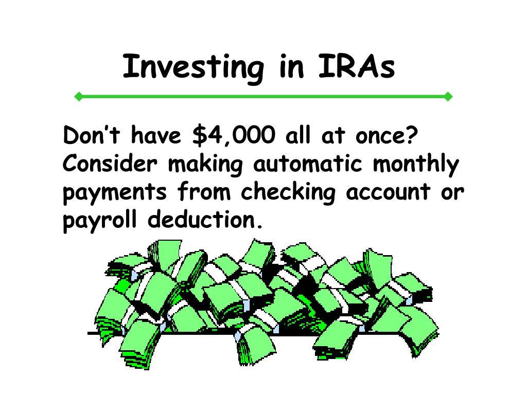 Investing in IRAs
