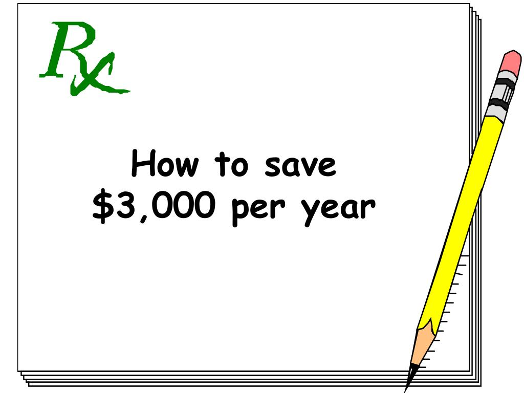 How to save $3,000 per year