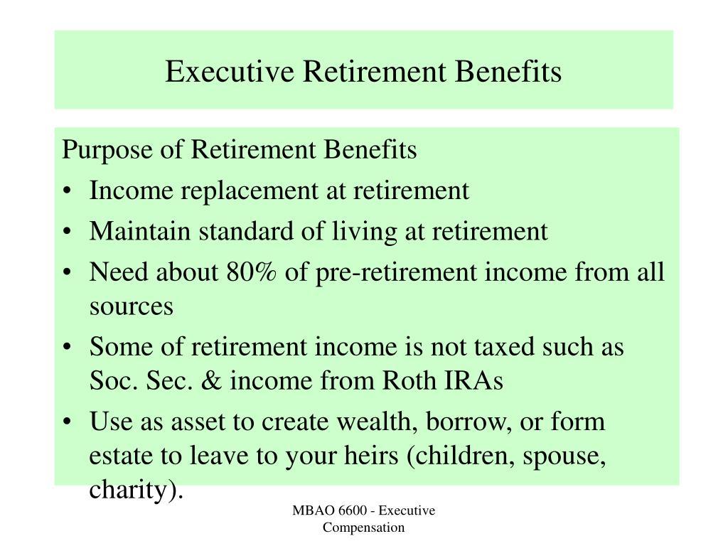 executive retirement benefits l.