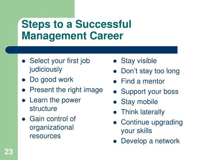 Select your first job judiciously