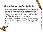 how when to contribute