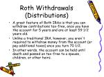 roth withdrawals distributions