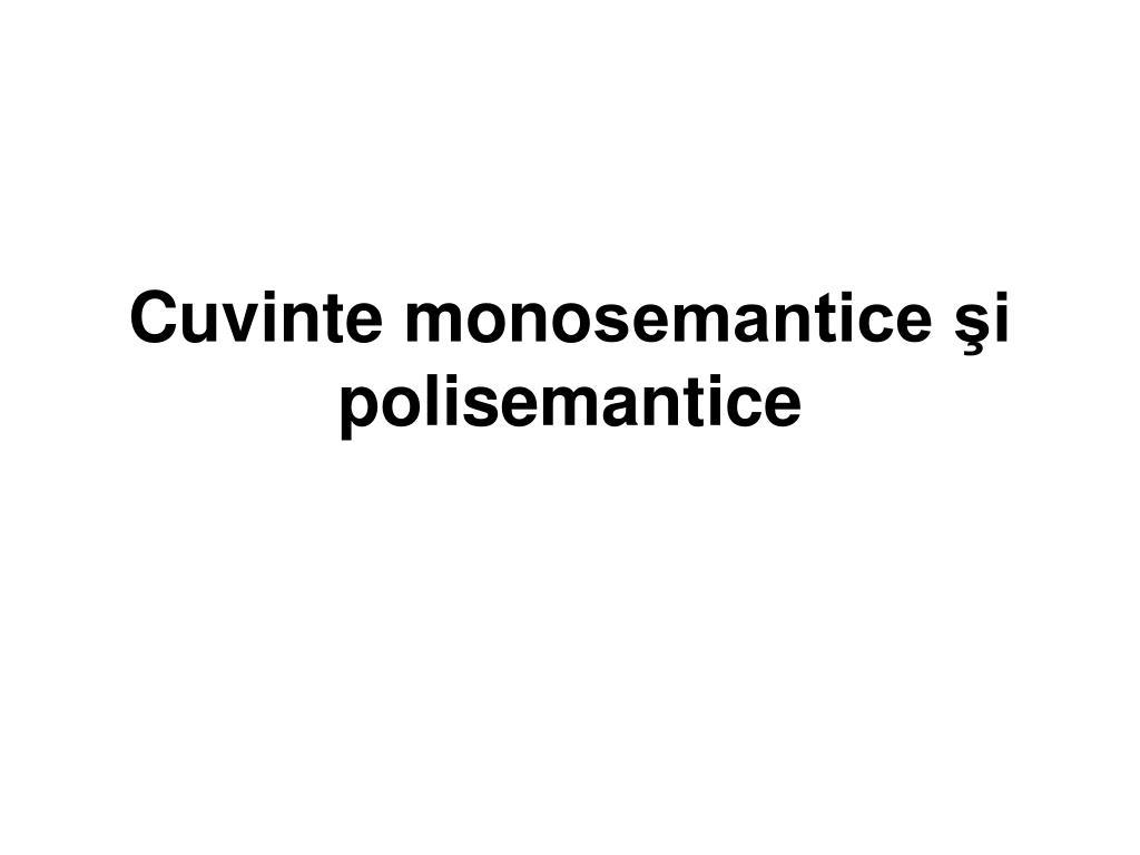 Cuvinte polisemantice si omonime