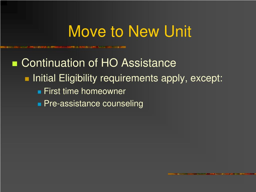 Move to New Unit