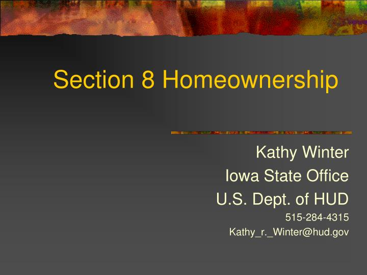 Section 8 homeownership