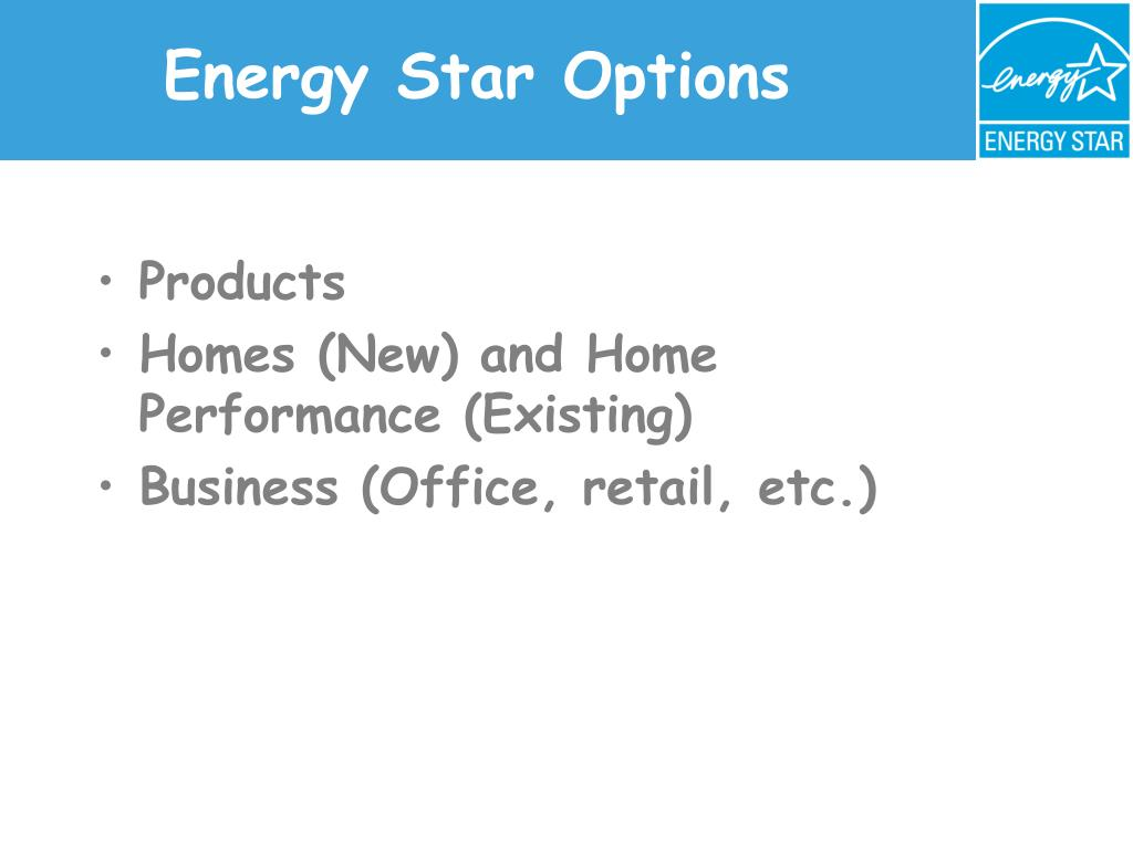 Energy Star Options