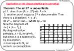 application of the diagonalization principle skip