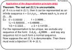 application of the diagonalization principle skip1