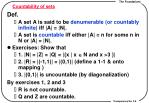 countability of sets